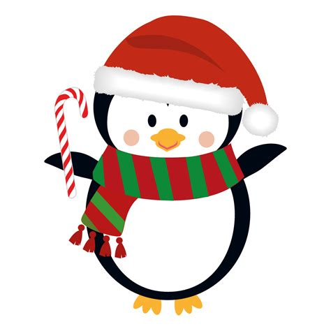 penguin christmas clipart clipartsgram com