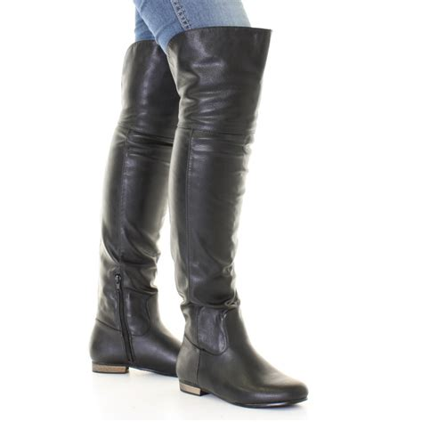 mens high boots leather mens thigh high leather boots tsaa heel
