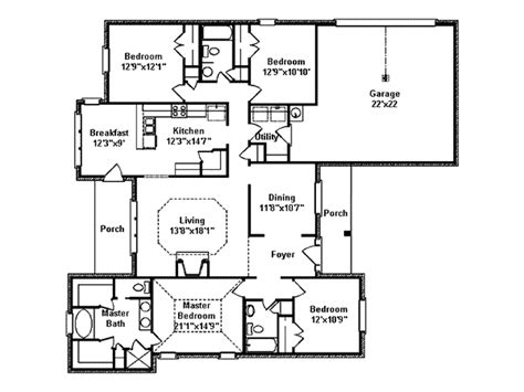 brick home floor plans lester brick ranch home plan 024d 0377 house plans and more