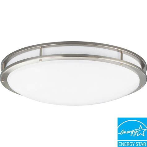 brushed nickel kitchen light fixtures lithonia lighting 2 light brushed nickel fluorescent