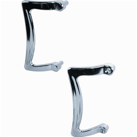 Shower Door Replacement Handles Delta Silverton 20 In Handles For Sliding Shower Or Bathtub Door In Chrome 1 Pair Sdbr009 Pc