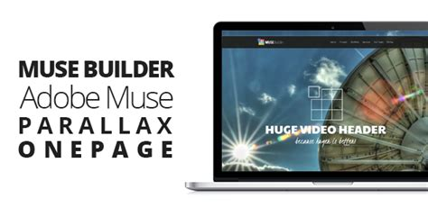 Muse Builder Parallax Onepage Muse Template By Themejive Themeforest Adobe Muse Ecommerce Templates Free