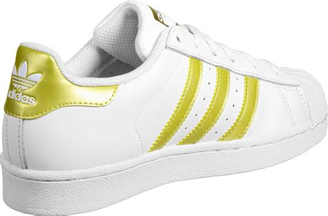 Sepatu Adidas Superstar White Gold adidas superstar foundation j w shoes white gold weare shop