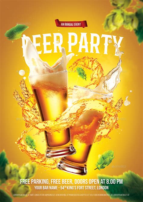 beer party flyer by bornx graphicriver