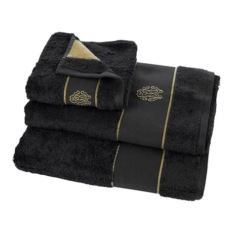 black bathroom towels buy roberto cavalli gold towel black bath sheet amara