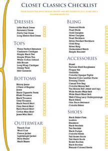 Closet Classics by Let The Real World Begin The Closet Checklist