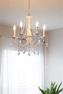 Making Your Own Chandelier Diy Crystal Chandelier Easy Tutorial