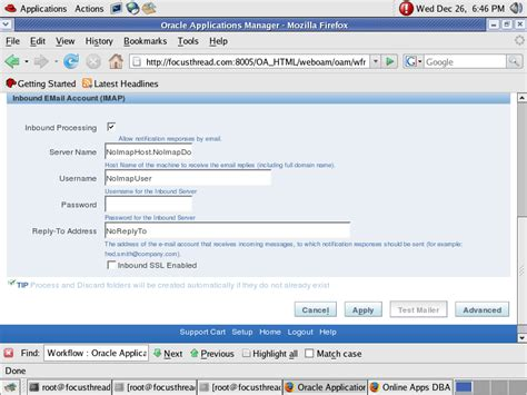 workflow notification workflow notification mailer setup in oracle apps r12 12i