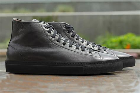 Top Copy Sneaker high top leather sneakers five plus one