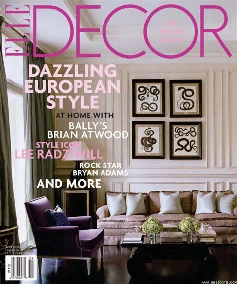 home design and decor magazine i like the different fonts that still go together and how the text color matches the background