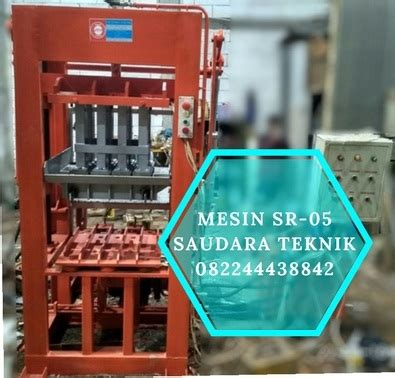 Jual Mesin Cetak Batako Hidrolis mesin cetak paving dan batako semi otomatis saudara teknik