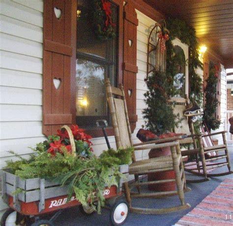 prim country christmas porch country home decor