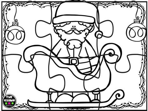 imagenes navideñas para armar y colorear puzzles navidad para colorear 3 imagenes educativas