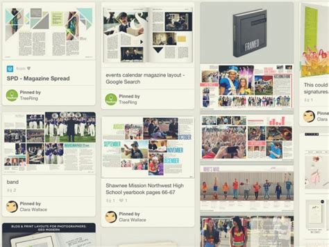 pinterest publication layout the best yearbook page layouts we found on pinterest