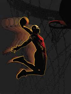 Basketball Wall Mural basketball slam dunk wall mural kid in the muralkid in