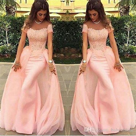 Longdress Najwa 01 by Evening Dresses 2018 Mermaid Abendkleider Lace Pink