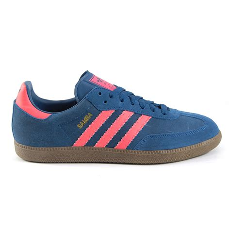 adidas samba tribe blue zest pink indoor soccer shoes new ebay