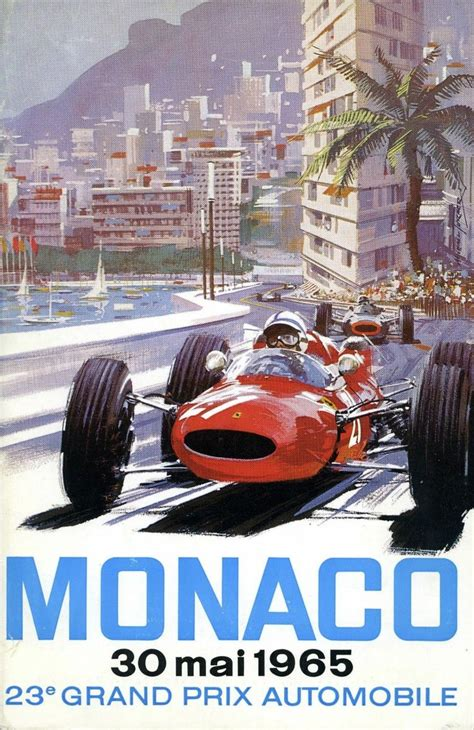 monaco gp poster  vintage les affiches