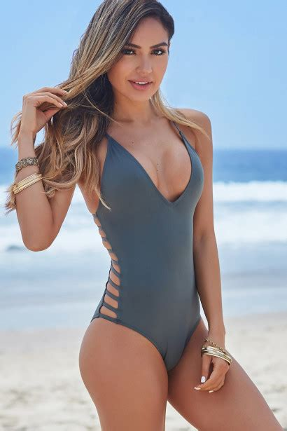 kasabikan two piece hot 1 peony dark silver deep v side cut out sexy one piece swimsuit