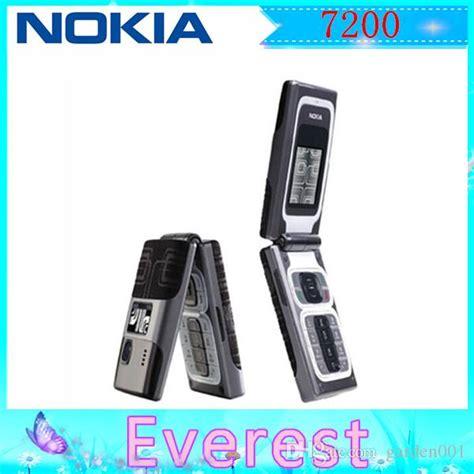 Karet Onoff Nokia 7200 original7200 unlocked refurbished gsm 2g 2mp dual band 760 mah flip mobile phone no