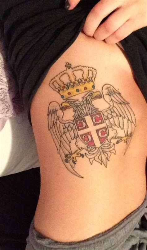 serbian crest on ribcage srbija i if deda