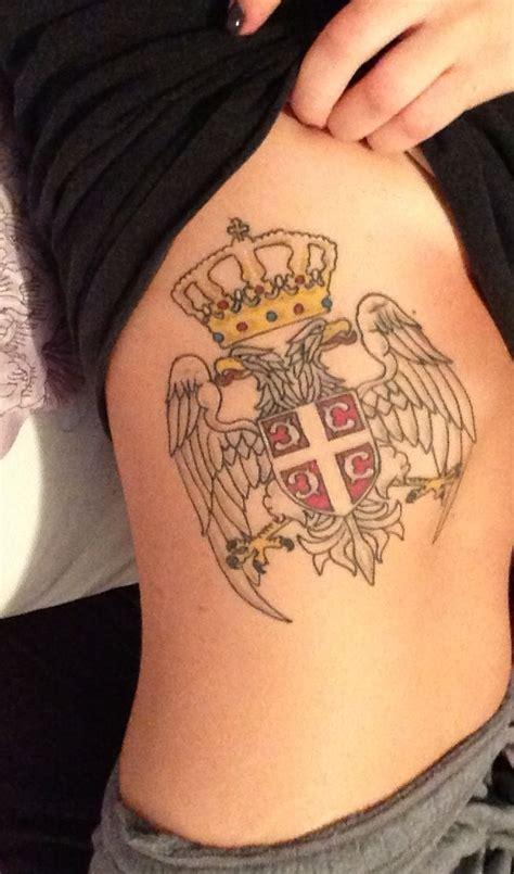 serbian tattoo designs serbian crest on ribcage srbija i if deda