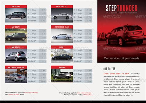 Car Brochure Template by Rent A Car Trifold Brochure 02 By Rapidgraf Graphicriver