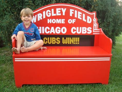 cubs bench 25 best chicago cubs wo man caves and rooms images on