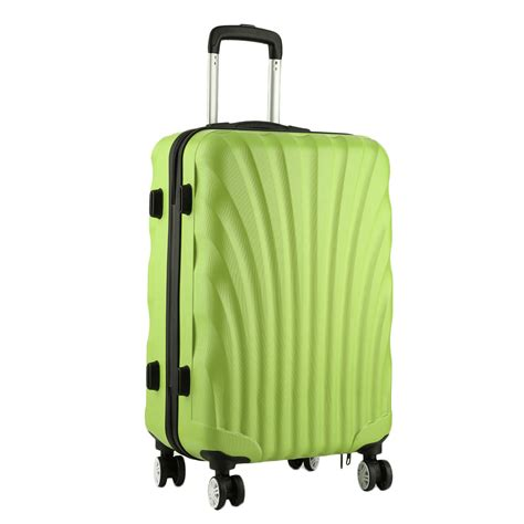 cabin luggage 4 wheels shell 4 wheels spinner suitcase set luggage trolley