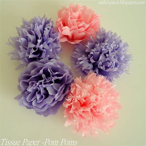 rathis space tissue paper flowers pom poms