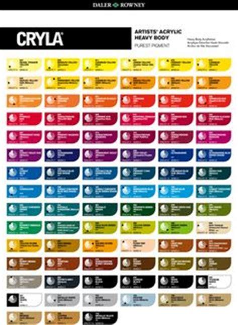 grumbacher academy acrylic paint chart acrylic paints paint charts acrylics and