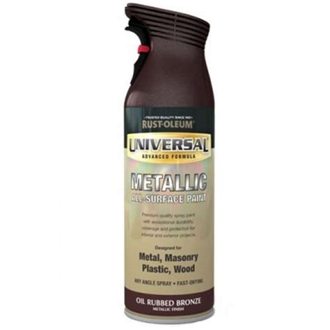rust oleum universal all surface spray paint rubbed bronze metallic 400ml