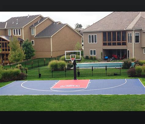 how much to build a basketball court in backyard how much to build an outdoor basketball court american hwy