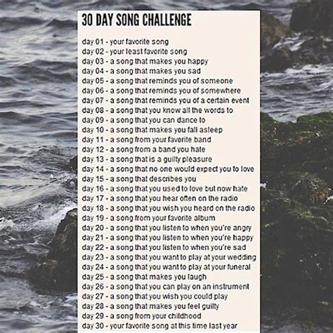 day song 8tracks radio 30 day song challenge 19 songs free