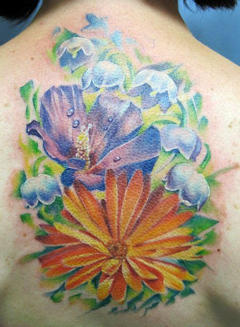 calendula tattoo designs floral calendula water lilies and