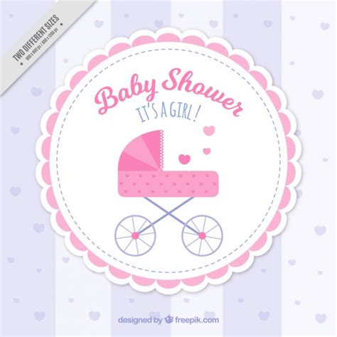 Pink Baby Shower Background by Pink Baby Shower Background Vector Free