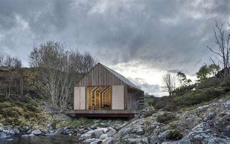 traditional boat house converted into summer house