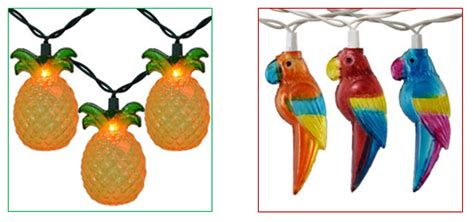 parrot string lights creating a tropical garden inspiration nda