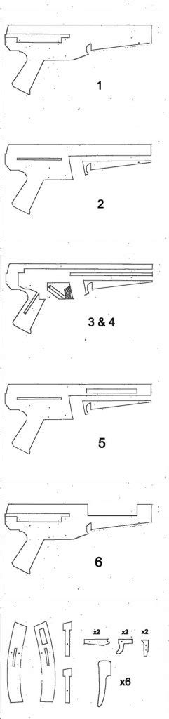 printable paper gun templates watch this working cardboard mp5 shoot paper bullets