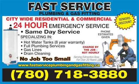 fast service plumbing gas fitting opening hours 9945
