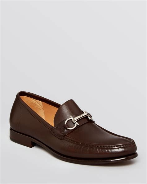 loafers ferragamo lyst ferragamo raffaele bit loafers in brown for