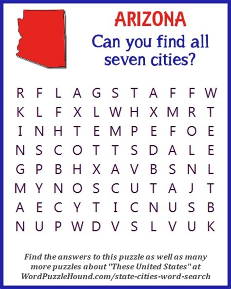 Arizona Search Word Puzzles Word Puzzle Hound Page 18