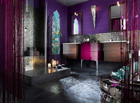 dark purple bathroom decorating with purple purple rooms designs
