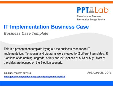 it implementation business case powerpoint