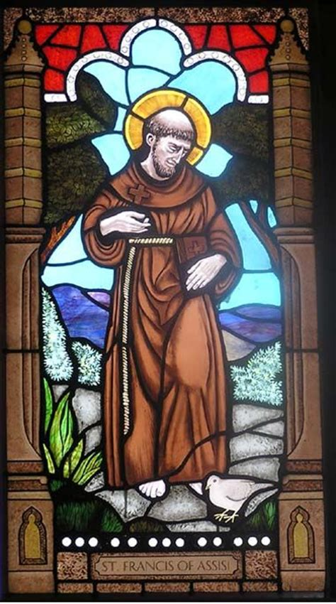 stained glass windows st francis of assisi new orleans la stained glass saint francis stained glass pinterest