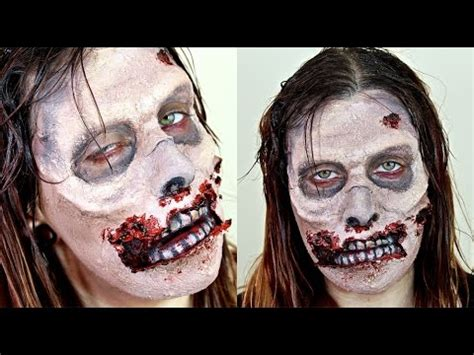 zombie tutorial youtube zombie makeup tutorial the walking dead halloween 2014