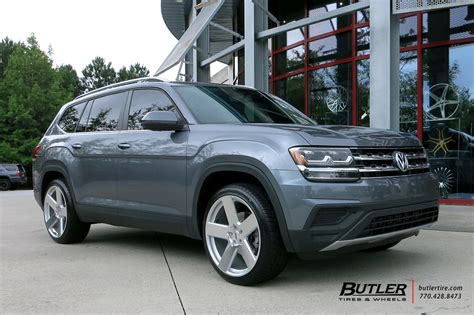 volkswagen atlas black wheels vw atlas with 22in tsw bristol wheels exclusively from