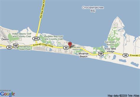 map florida destin map of inn destin destin