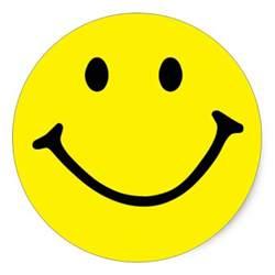 yellow smiley classic sticker zazzle