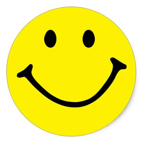 yellow smiley classic sticker zazzle